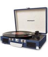 Portable Record Player Blue Suitcase Turntable ... - $109.95