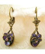 Earrings, Sweet Romance, Violetta, Pierced Fren... - $27.00