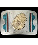 Native American Gold Indian Chief Sterling Silv... - $235.87