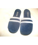Mens Rubber Soled Scuffs Slippers Size LARGE 11... - $9.89