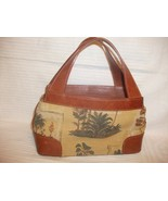 Vintage Tommy Bahama Isle of Palm Tapestry Leat... - $16.81