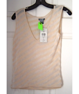 Pazo Cream Colored Tank Top Size M, NWT Color o... - $19.99