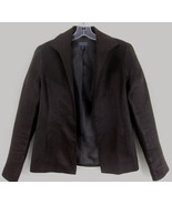 Lafayette 148 Brown linen jacket 4 Open front L... - $39.99