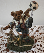 Boyds Bear Resin Soccer Bear 228307 Rocky Bruin... - $6.95
