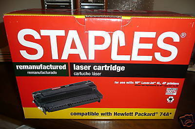 OFFICE LASER CARTRIDGE Staples STH-R30 for HP 4L/4P Sealed N