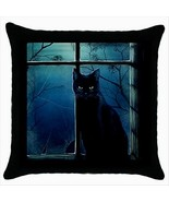 NEW* HOT BLACK CAT Quality Black Cushion Cover ... - $15.99