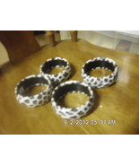 Lot of 4 White Leopard Spotted Bangle Bracelets - $9.99