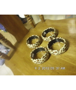 Lot of 4 Tan Leopard Spotted Bangle Bracelets - $9.99