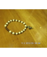 Handmade Beaded Stretch Bracelet With Black Cro... - $2.99