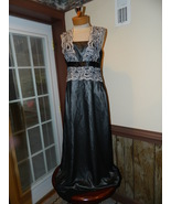 JS Collection size 8 Black over Silver Formal P... - $37.99