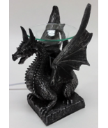 Sitting Poly Resin Dragon with Black Horns Oil ... - $29.95