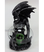 Black Dragon With Skull Polyresin Electric Oil ... - $29.95