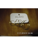 Set of 3 Aldo Goldtone Hoop Earrings Pierced - $3.99