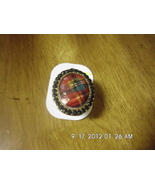 Girls Aldo Fashion Bling Ring Red Plaid Design ... - $3.99