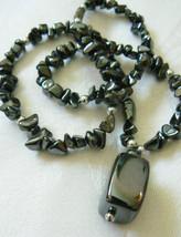 Silver Tone genuine Hematite stone beaded  Neck... - $28.00