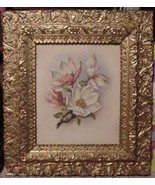 Gold Gilt Wood Frame 19.5 x 17 Dogwood Framed P... - $75.00