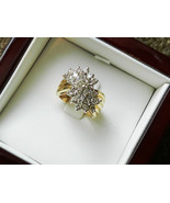 14K gold ring cluster in approx. 1.50 carat dia... - $2,750.00