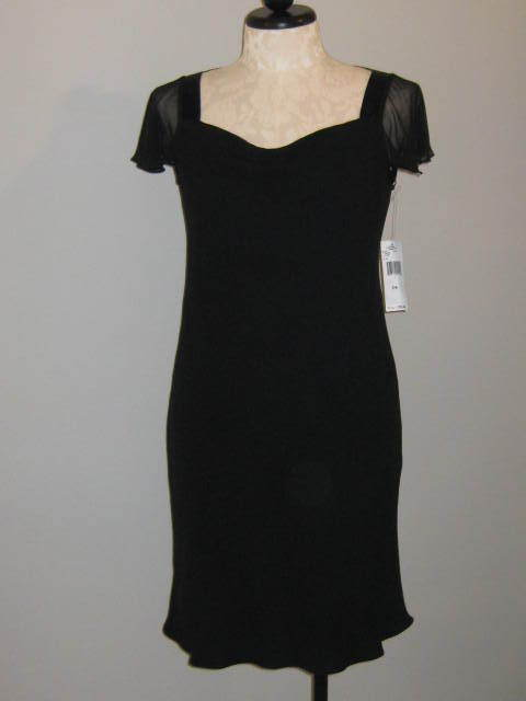 Jones New York Classic Black Dress Size 14 NWT