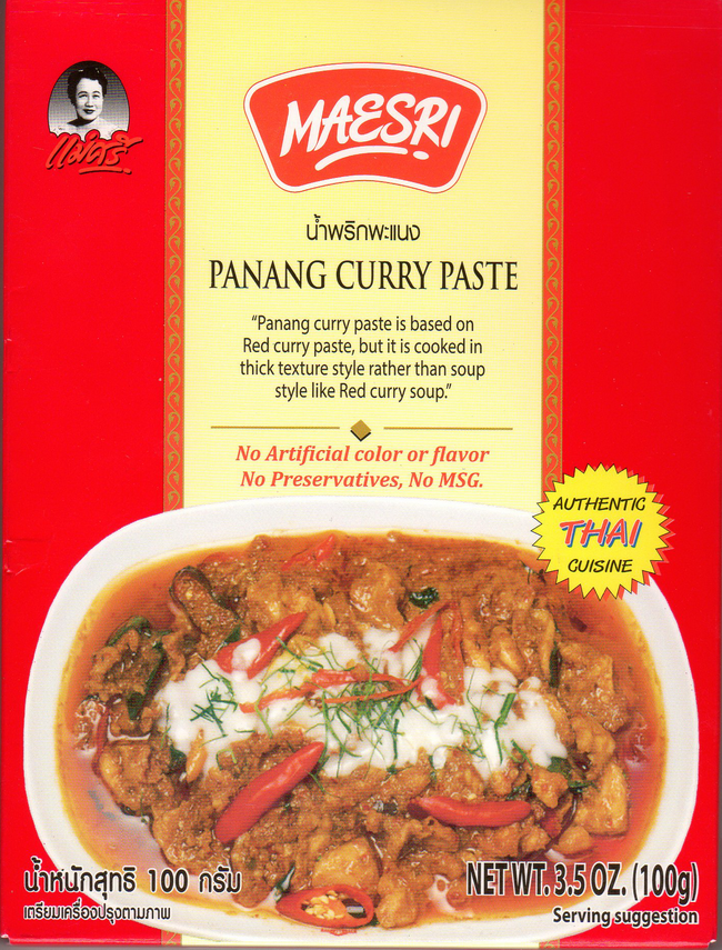 Maesri Panang Curry Paste Authentic Thai Food - International Foods