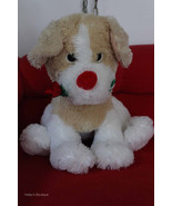 Plush Dog with Rose in Mouth Soft Best Made Toy... - $19.79