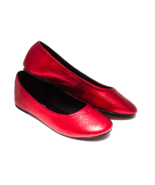 Glitter Candy Apple Red Ballet Flats Slippers C... - $49.99