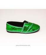 Sequin Kids Size Kelly Green Canvas Alpargata S... - $29.99