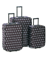 Skulls travel Luggage easy spot at PU set of th... - $105.99