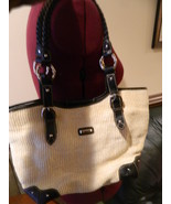 The SAK Fabric and Leather shoulder bag, Hobo bag  - $24.99