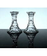 Fostoria Style Crystal Candlesticks Set of 2 - $12.99
