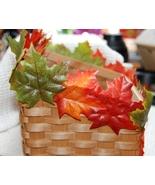 Colorful Fall Leaf - Autumn Leaves Woven Wood B... - $4.00