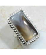 RING Sterling Silver 925 BOTSWANA AGATE Women's... - $14.69