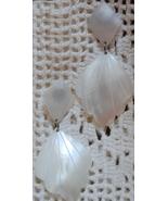 Mother of Pearl Dangle Earrings (Pierced, Post) - $9.00