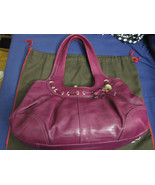 Coach magenta leather Ergo laced pleated framed... - $127.50