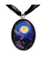 Lilac Fairy Purple Flower Blue Moon Fantasy Han... - $32.99