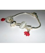Alabama Eurocharm Bracelet Elephant Charm 925 S... - $19.99