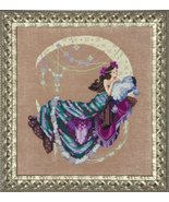 FULL LINEN KIT Moon Flowers MD137 cross stitch ... - $53.60