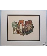 Corn Ceremony by Ginny Hogan Cave Drawing Matte... - $29.69