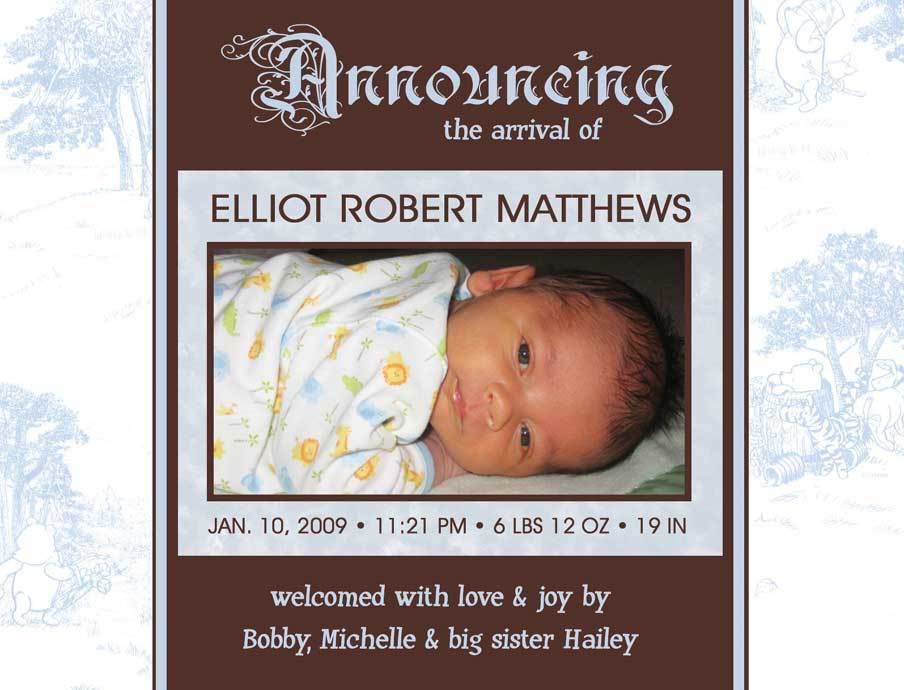 Buy gifts birth announcements - Custom Photo Birth Announcements Digital Free Gift