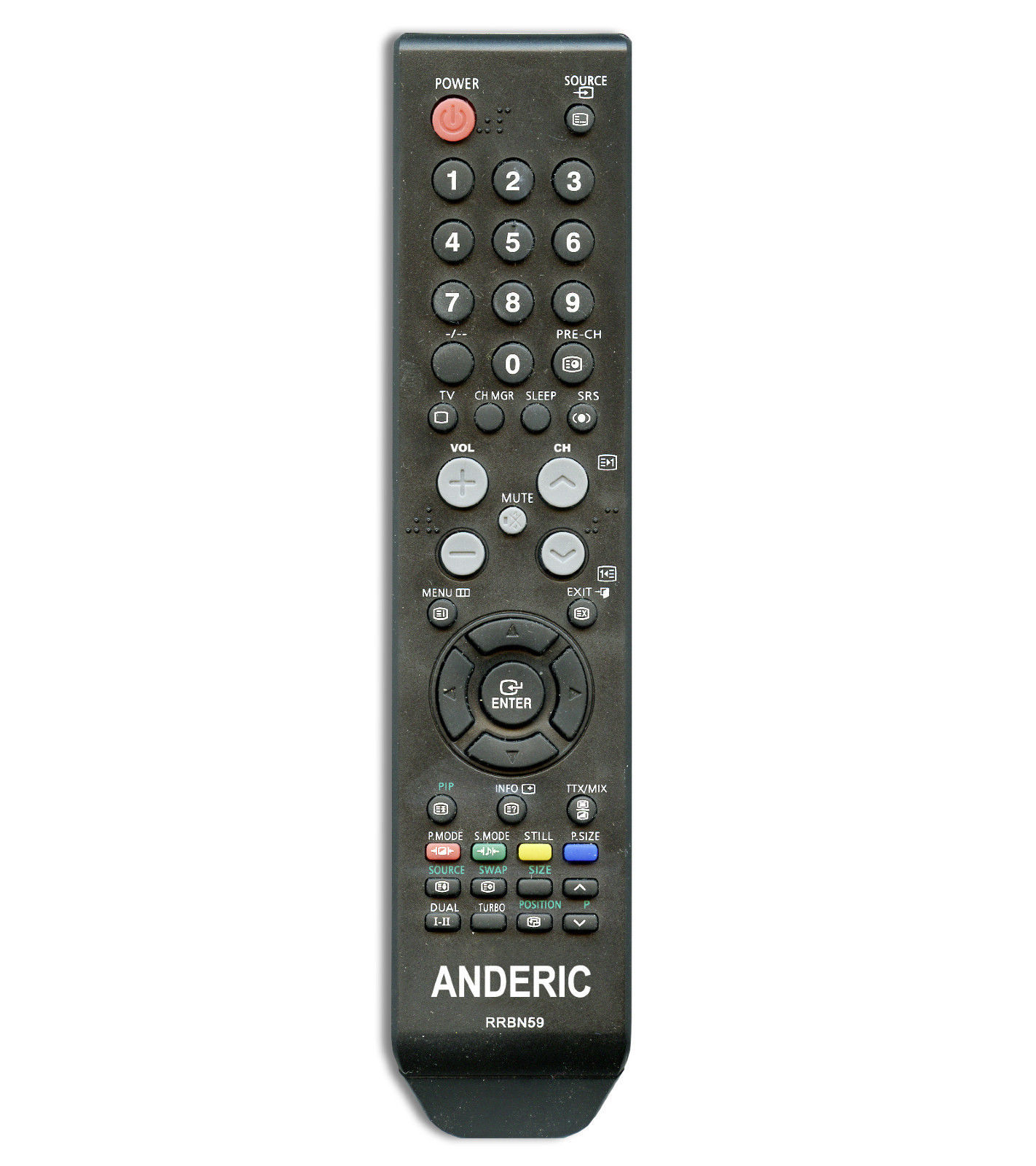Samsung Tv Remote Control Bn59 00598a Replacement By Anderic 1 Year Warranty Other