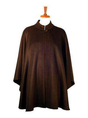 Brown poncho, cape made of babyalpaca wool, coat