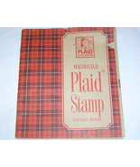 1960's Macdonald Plaid Stamp Saver Booklet with... - $6.95