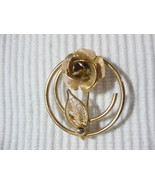 Vintage Sarah Coventry Circle Brooch w/Rose & F... - $12.29