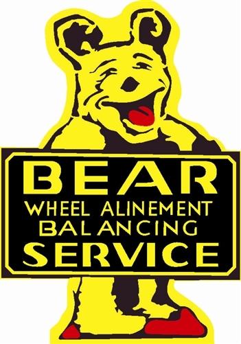 Metal Alignment : Bear service alignment quot baked enamel metal sign