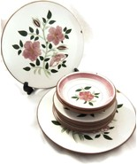 9 Pc Stangl Pottery Wild Rose Dinner Plates Bre... - $25.00