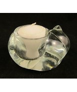 Sleeping Cat Kitty Glass Crystal Votive Candle ... - $16.00