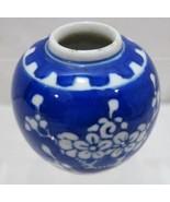Blue White Vintage Floral Womans Ceramic Hair C... - $16.00
