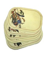 5 Plastic Placemats Oval Birds Flowers B of A I... - $20.00