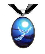 Angel in Blue Starlight Easter Moon Handmade Ar... - $32.99
