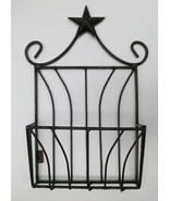 Rustic Wire Magazine Rack with Star, Wall Mount... - $24.50