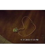 Three Flower Pendant on Pink Cord Necklace Hand... - $4.99